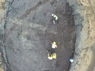 opgraven van de Romeinse gracht
